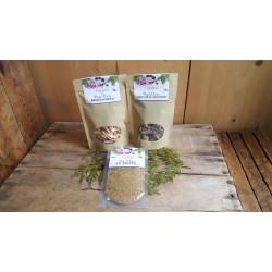 Assortiment : 2 sachets de champignons et 1 épice forestière