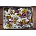 Pot-Pourri boîte rectangulaire (grand format)- Roses et fleurs des champs.